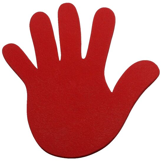 Sport-Thieme Bodenmarkierung Hand, 18 cm, Rot