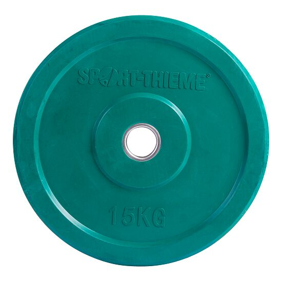 Sport-Thieme® Bumper Plate, bunt 15 kg, Grün