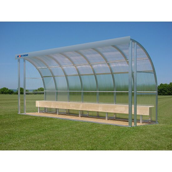 Sport-Thieme® Dugout for 10 People Seat, Polycarbonate
