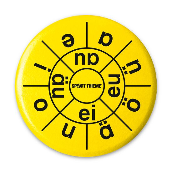 Sport-Thieme® Educational Throwing Discs German vowels
