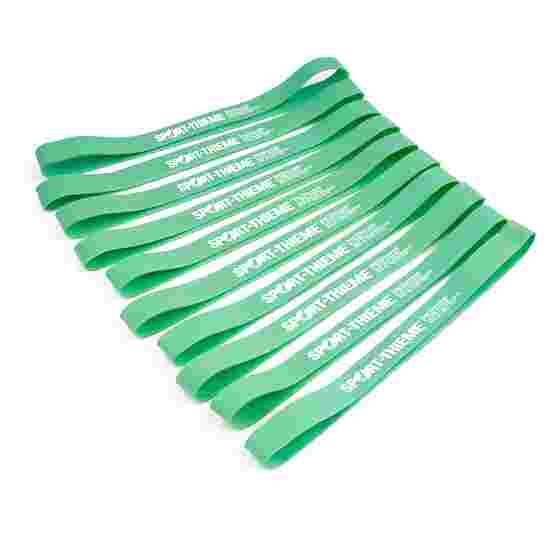 Sport-Thieme Elastikbånd, sæt med 10 stk. Grøn, let