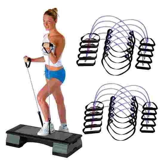 Sport-Thieme Fitness-Step-Tube 10 stk. sæt Violet = hård