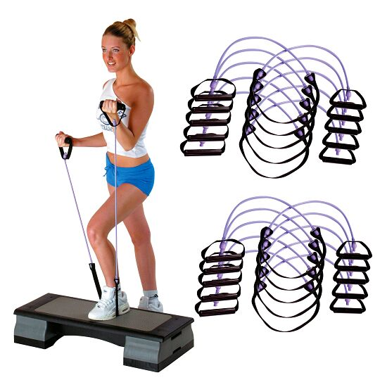 Sport-Thieme® Fitness-Step-Tube 10er Sets Violett = stark