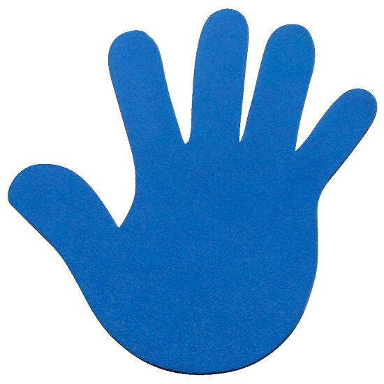 Sport-Thieme Floor Marker Hands, 18 cm, Blue