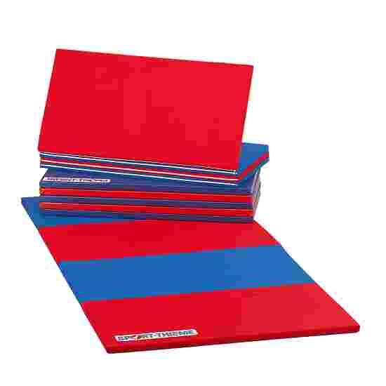 Sport-Thieme Folding Mat 360x120x3 cm, Blue/red