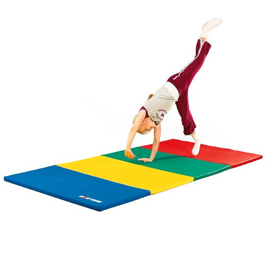 Sport-Thieme® Folding Mat 240x120x3 cm, Blue-Yellow-Green-Red