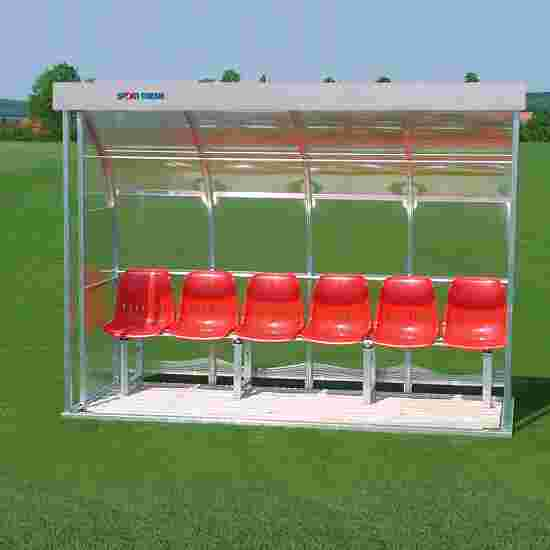 Sport-Thieme for 6 People Dugout Glazing: polycarbonate, Seat