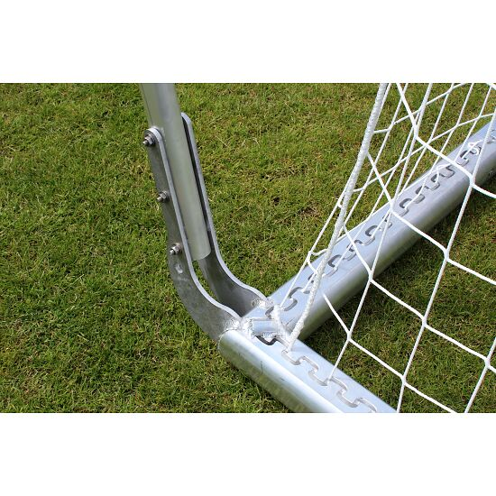 Sport-Thieme Full-Size Stadium Goal 7.32x2.44m, White, Free-Standing, with Loose Net Suspension and SimplyFix