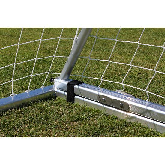 Sport-Thieme Full-Sized Football Goal with Folding Net Bracket and Base Frame White, Net hooks