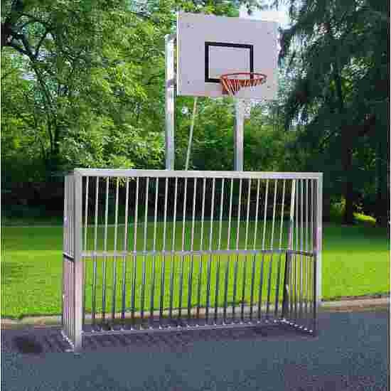Sport-Thieme Fully Welded Leisure Goal 80x80-mm square tubing, 300×200×70 cm with basketball backboard