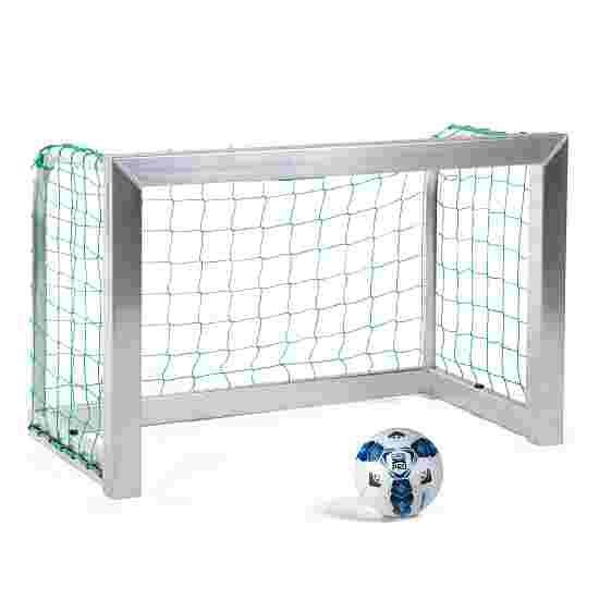 Sport-Thieme Fully Welded Mini Football Goal 1.2×0.8 m, goal depth 0.7 m, Incl. net, green (mesh width 10 cm)