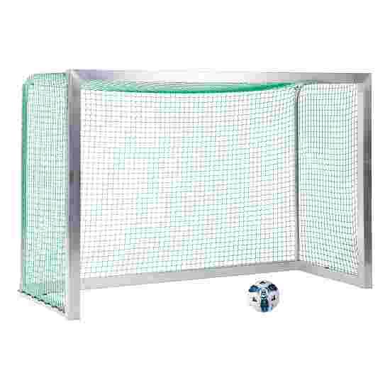 Sport-Thieme Fully Welded Mini Football Goal 2.40×1.60 m, goal depth 1.00 m, Incl. net, green (mesh width 4.5 cm)