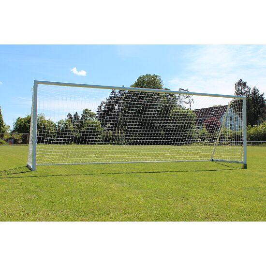 Sport-Thieme Großfeld-Fußballtor mit klappbarem Netzbügel und Bodenrahmen Weiß, SimplyFix