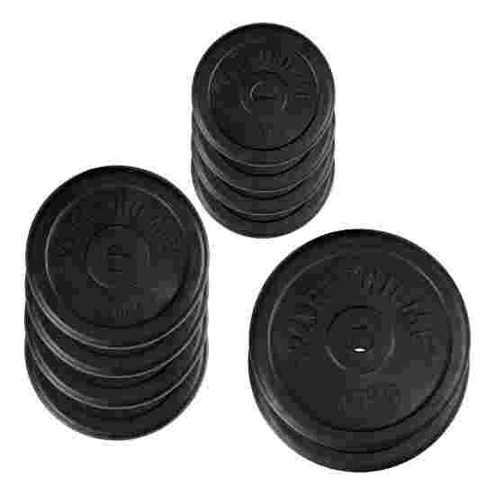 Sport-Thieme Gummi Hantelscheiben-Set, 50 kg