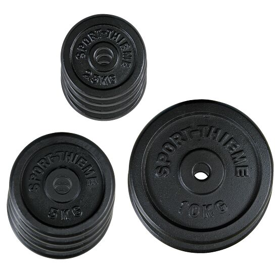Sport-Thieme® Gusseisen Hantelscheiben-Set, 50 kg