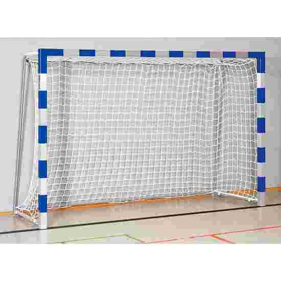 Sport-Thieme Håndboldmål 3x2 m. I bøsninger Sammenskruede hjørner, Blå-sølv