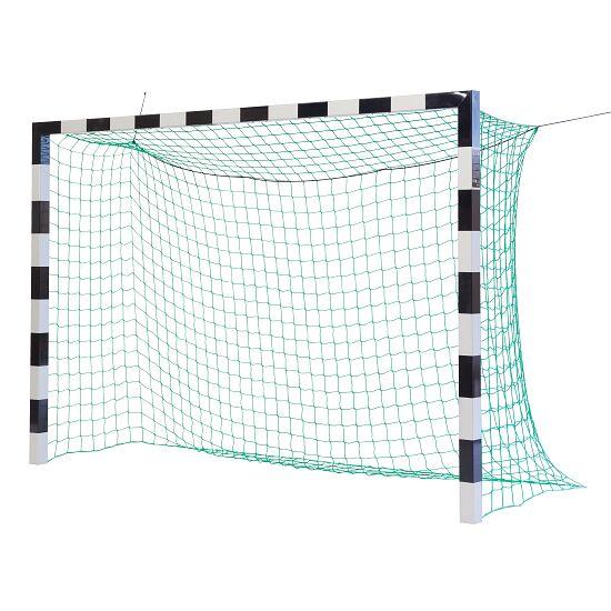 Sport-Thieme Hallenfußball 3x2 m, in Bodenhülsen stehend mit patentierter Eckverbindung Ohne Netzbügel, Schwarz-Silber