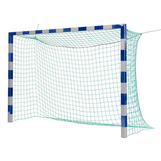 Sport-Thieme Hallenfußball 3x2 m, in Bodenhülsen stehend mit patentierter Eckverbindung Ohne Netzbügel, Blau-Silber