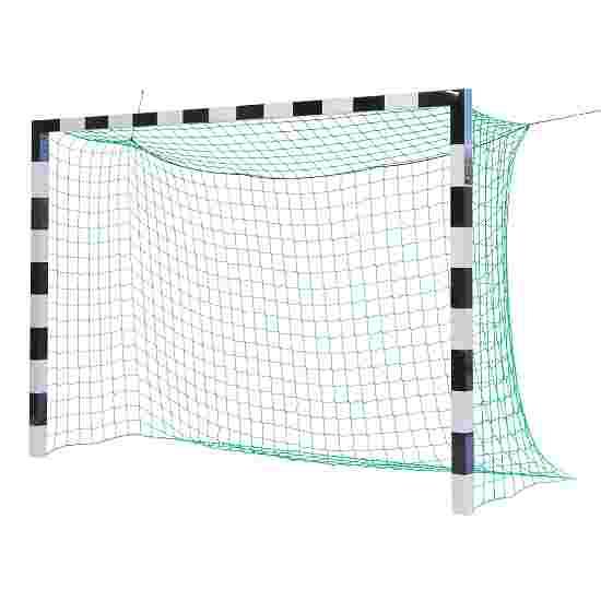 Sport-Thieme Hallenfußballtor 3x2 m, in Bodenhülsen stehend mit Premium-Stahl-Eckverbindung Ohne Netzbügel, Schwarz-Silber