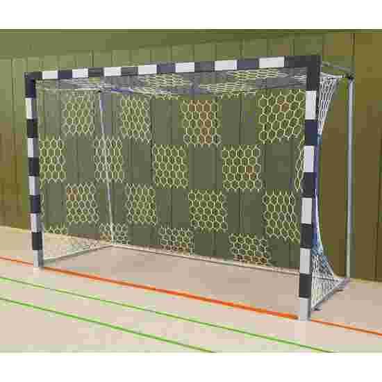 Sport-Thieme Hallenhandballtor  3x2 m, frei stehend mit feststehenden Netzbügeln Verschweißte Eckverbindungen, Schwarz-Silber