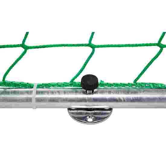 Sport-Thieme Hallenhandballtor  3x2 m, frei stehend mit Premium-Stahl-Eckverbindung Mit anklappbaren Netzbügeln, Schwarz-Silber