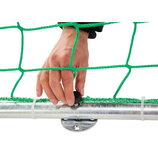 Sport-Thieme® Hallenhandballtor 3x2 m, frei stehend Mit anklappbaren Netzbügeln, Schwarz-Silber