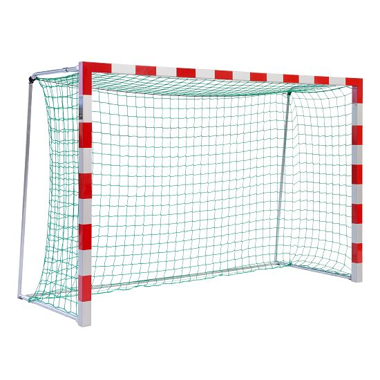 Sport-Thieme® Hallenhandballtor 3x2 m, frei stehend Verschweißte Eckverbindungen, Rot-Silber