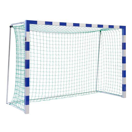 Sport-Thieme® Hallenhandballtor 3x2 m, frei stehend Verschweißte Eckverbindungen, Blau-Silber