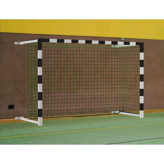Sport-Thieme® Hallenhandballtor  3x2 m, schwenkbar, mit Wandbefestigung inkl. Netzbefestigung SimplyFix Schwarz-Silber