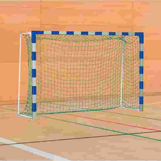 Sport-Thieme Handball Goal with Fixed Net Brackets IHF, goal depth 1 m, Blue/silver
