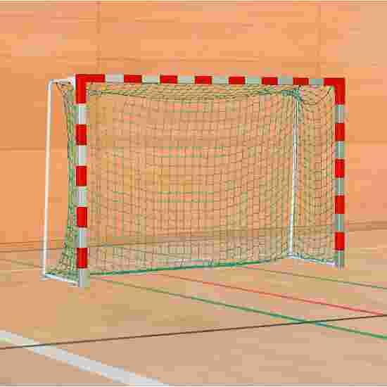 Sport-Thieme Handball Goal with Fixed Net Brackets Standard, goal depth 1 m, Red/silver
