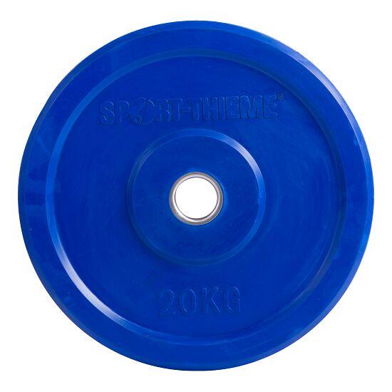 "Sport-Thieme® Hantelscheibe ""Bumper Plate"", bunt 20 kg, Blau"