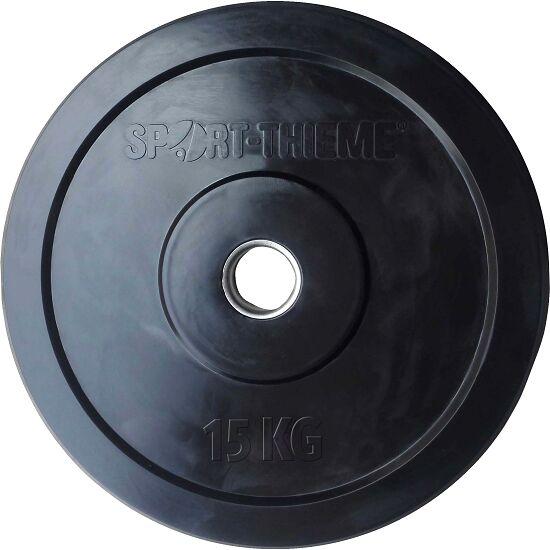 """Sport-Thieme® Hantelscheibe """"Bumper Plate"""", schwarz 15 kg"""