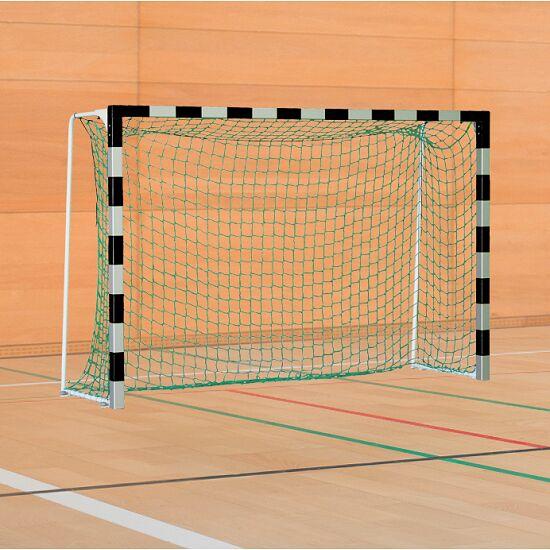 Sport-Thieme® IHF-Handballtor mit feststehenden Netzbügeln IHF, Tortiefe 1 m, Schwarz-Silber