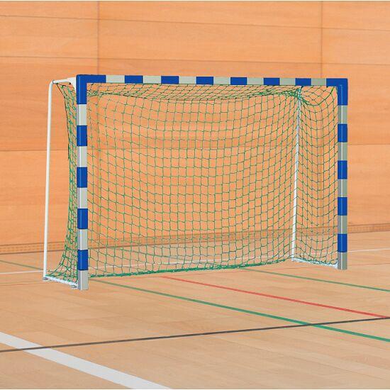 Sport-Thieme® IHF-Handballtor mit feststehenden Netzbügeln IHF, Tortiefe 1 m, Blau-Silber