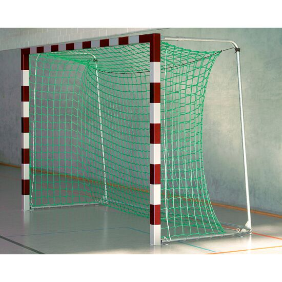 Sport-Thieme Indoor Football Goal, 3×2 m, in ground sockets, with premium-steel corner joints With folding net brackets, Red/silver