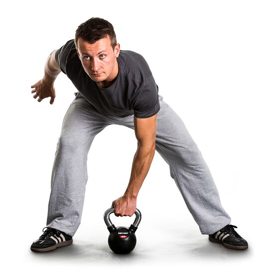 Sport-Thieme® Kettlebell gummiert mit gerändeltem Chrom-Griff 4 kg