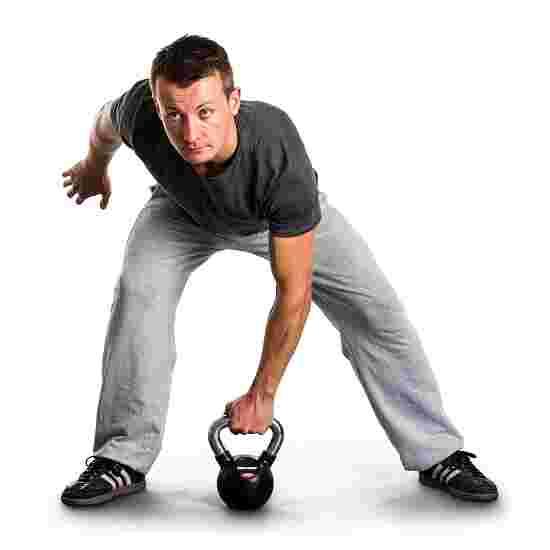 Sport-Thieme Kettlebell gummiert mit gerändeltem Chrom-Griff 4 kg