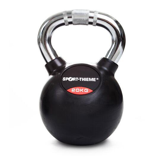 Sport-Thieme® Kettlebell gummiert mit gerändeltem Chrom-Griff 20 kg