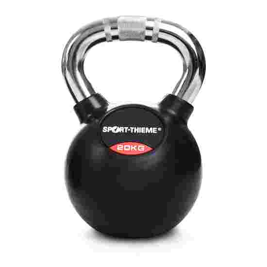 Sport-Thieme Kettlebell gummiert mit gerändeltem Chrom-Griff 20 kg