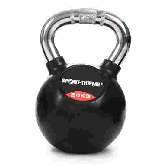 Sport-Thieme Kettlebell gummiert mit gerändeltem Chrom-Griff 24 kg