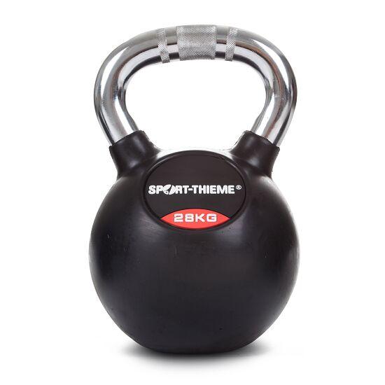 Sport-Thieme® Kettlebell gummiert mit gerändeltem Chrom-Griff 28 kg