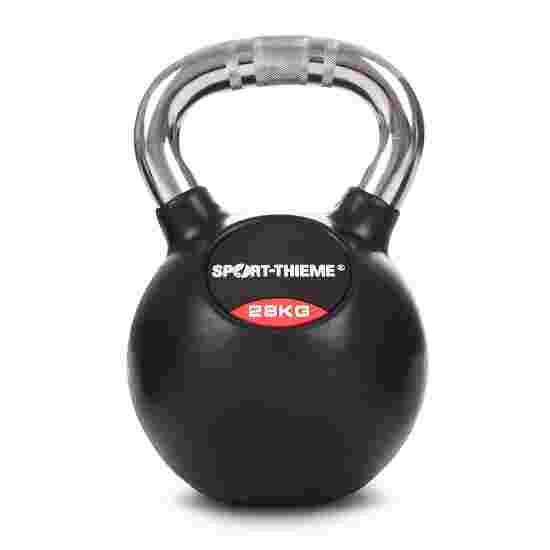 Sport-Thieme Kettlebell gummiert mit gerändeltem Chrom-Griff 28 kg