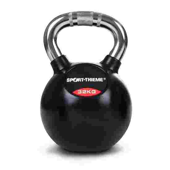Sport-Thieme Kettlebell gummiert mit gerändeltem Chrom-Griff 32 kg