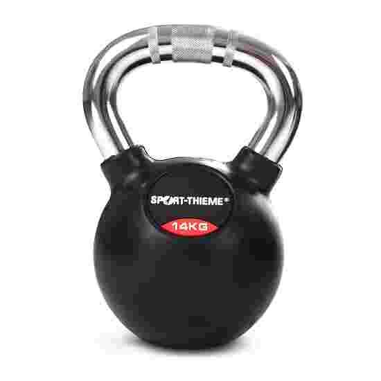 Sport-Thieme Kettlebell gummiert mit gerändeltem Chrom-Griff 14 kg