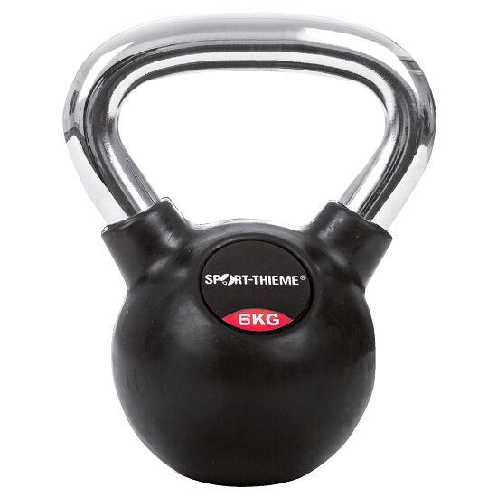 Sport-Thieme® Kettlebell gummiert mit glattem Chrom-Griff 6 kg