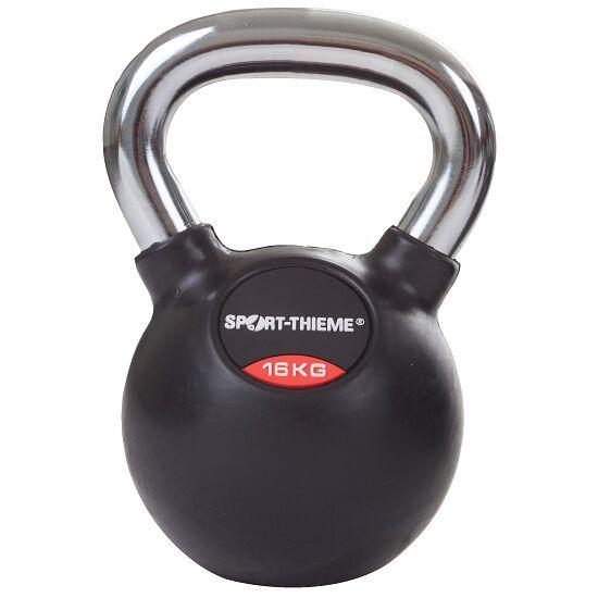 Sport-Thieme® Kettlebell gummiert mit glattem Chrom-Griff 16 kg
