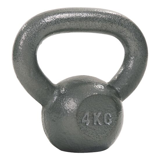 Sport-Thieme® Kettlebell Hammerschlag, lackiert, Grau 4 kg