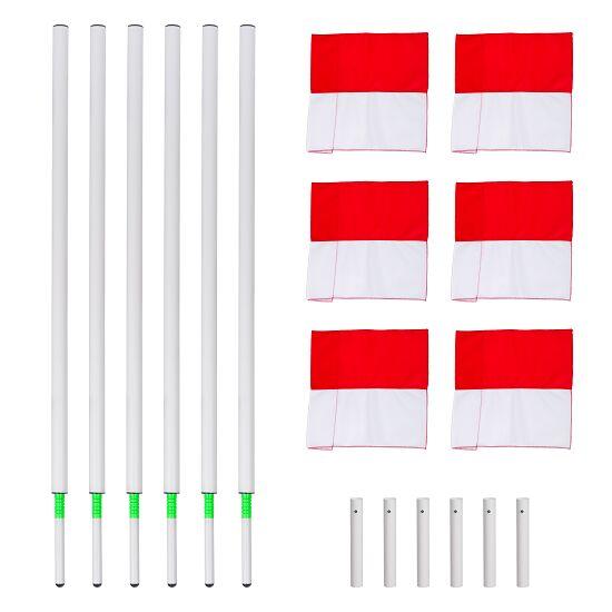 Sport-Thieme® Kipp-Grenzstangen Set Fahne Rot-Weiß