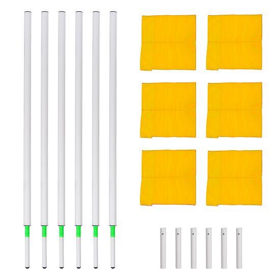 Sport-Thieme® Kipp-Grenzstangen Set Fahne Neongelb